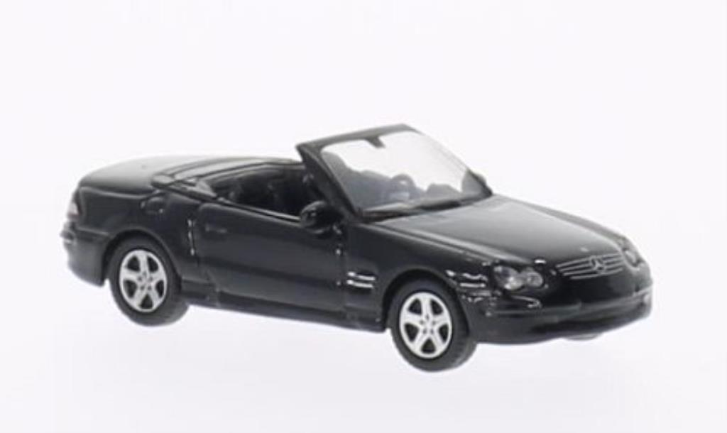 mercedes sl 500 miniature cabrio noire welly 1 87 voiture. Black Bedroom Furniture Sets. Home Design Ideas