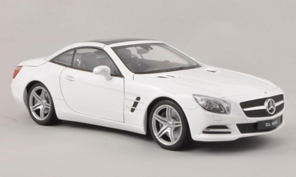 Mercedes Classe SL 500 1/18 Welly (R231) blanche Verdeck geschlossen 2012 miniature
