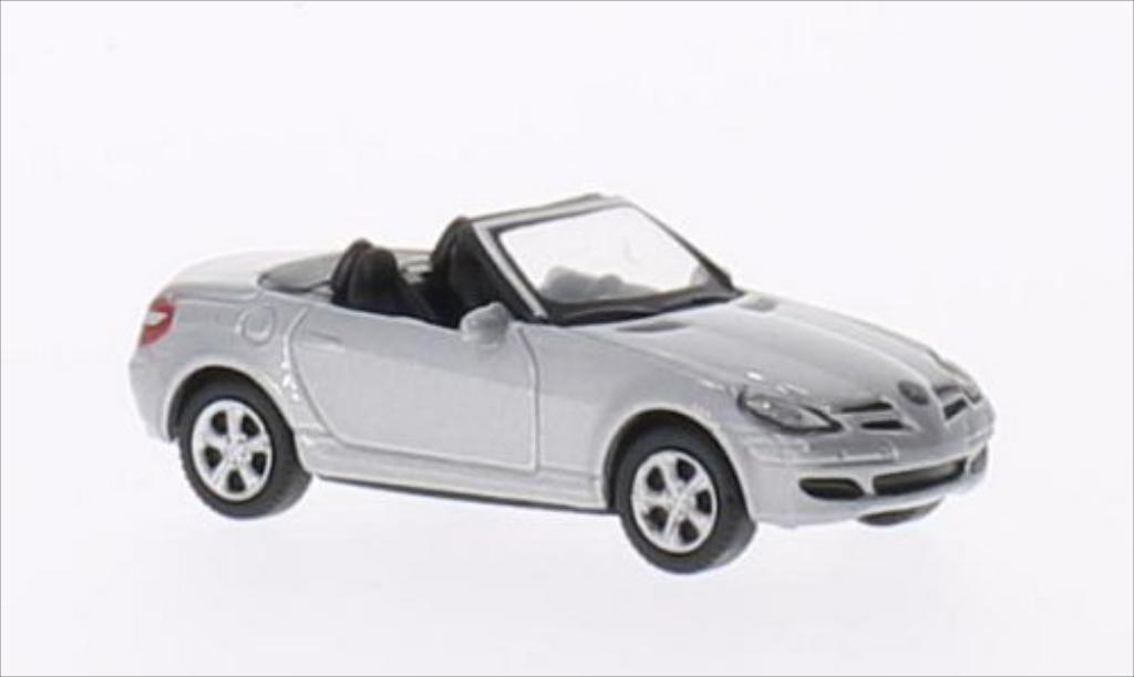 Mercedes Classe SLK 1/87 Welly 350 metallise grise miniature