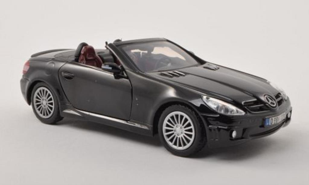 mercedes slk 55 amg r171 schwarz motormax modellauto 1 24 kaufen verkauf modellauto online. Black Bedroom Furniture Sets. Home Design Ideas