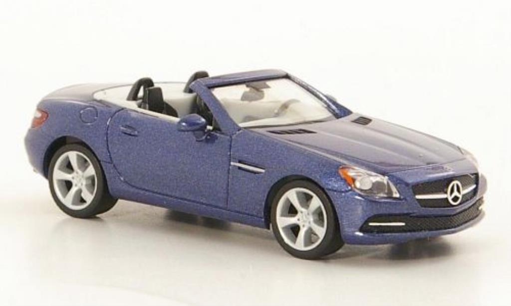 Mercedes Classe SLK 1/87 Herpa (R172) bleu 2011 miniature