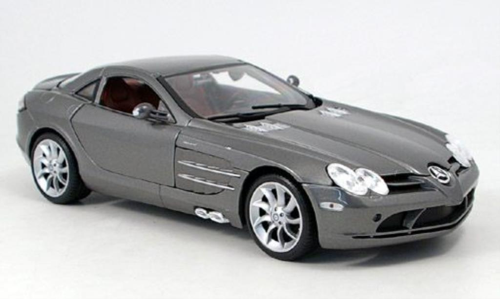 Mercedes SLR 1/18 Maisto grisegrise 2003 miniature
