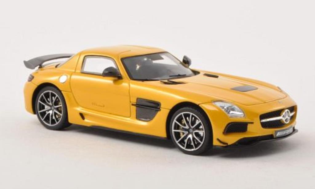 mercedes sls amg black series c197 gelb 2013 minichamps. Black Bedroom Furniture Sets. Home Design Ideas
