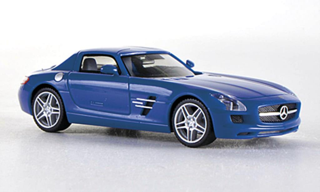mercedes sls amg c197 blau herpa modellauto 1 87 kaufen verkauf modellauto online. Black Bedroom Furniture Sets. Home Design Ideas
