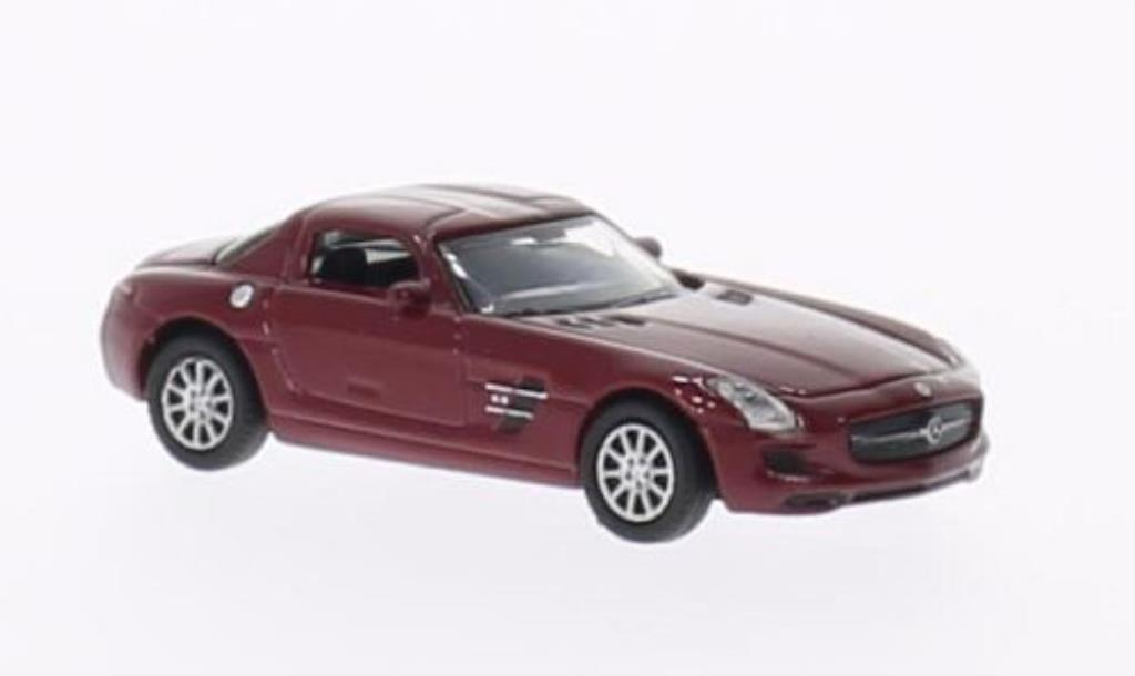 Mercedes SLS 1/87 Welly AMG rouge miniature