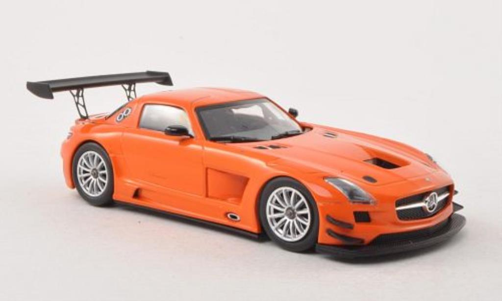 Mercedes SLS 1/43 Minichamps AMG GT3 orange Plain Body Version 2011 miniature