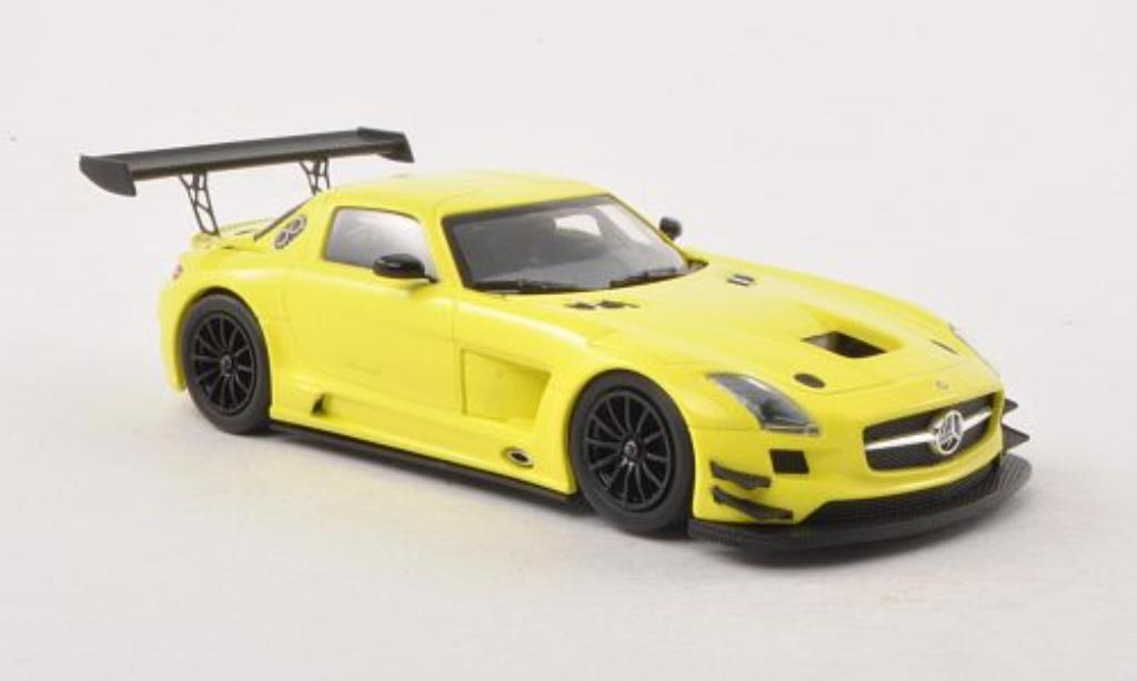 Mercedes SLS 1/43 Minichamps AMG GT3 jaune Plain Body Version 2011