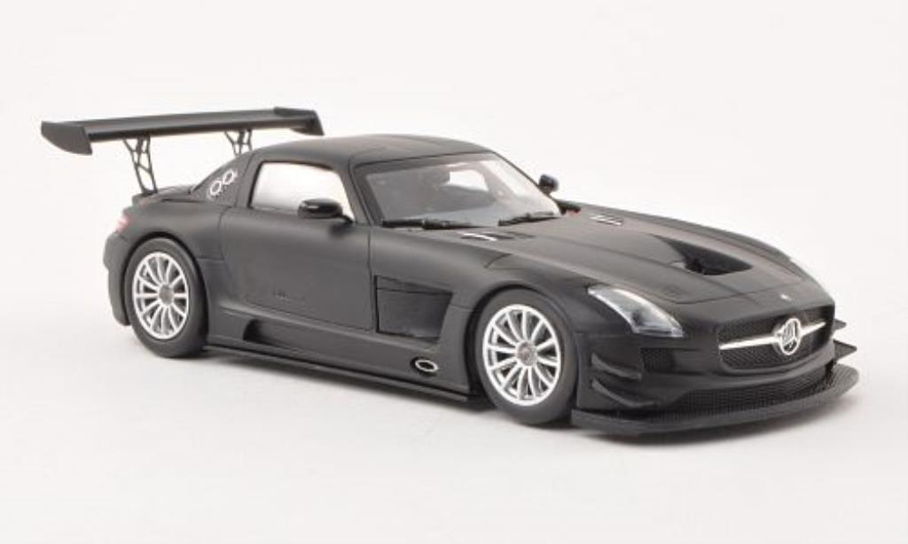 Mercedes SLS 1/43 Minichamps AMG GT3 matt-noire Plain Body Version 2011 miniature