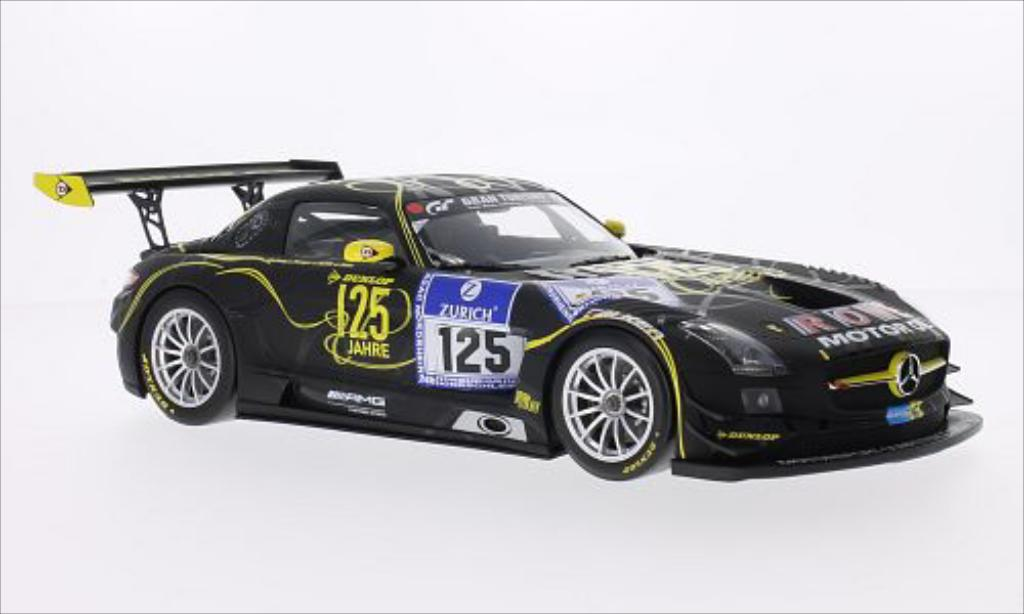 Mercedes SLS 1/18 Minichamps AMG GT3 No.125 Rowe Racing Dunlop 24h Nurburgring 2013 /M.Hartung miniature
