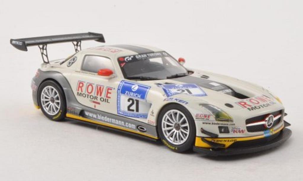 Mercedes SLS 1/43 Minichamps AMG GT3 No.21 Rowe Racing 24h Nurburgring 2012 /Bullitt miniature