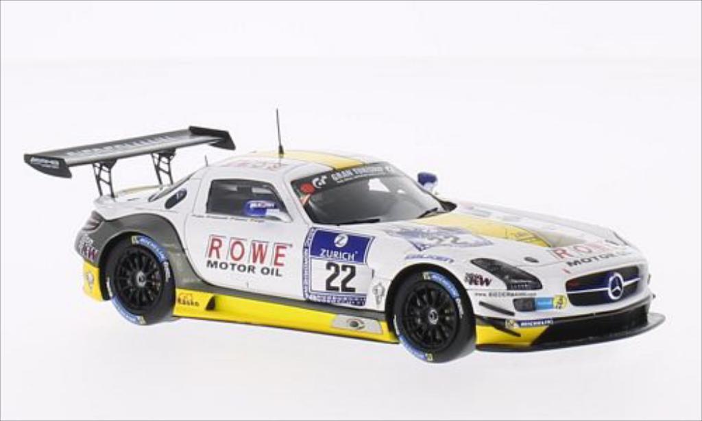 Mercedes SLS 1/43 Spark AMG GT3 No.22 Rowe Racing 24h Nurburgring 2014 /M.Engel miniature