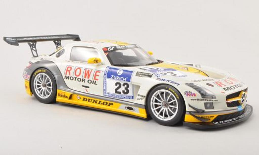 Mercedes SLS 1/18 Minichamps AMG GT3 No.23 Rowe Racing 24h Nurburgring 2013 /Jager miniature