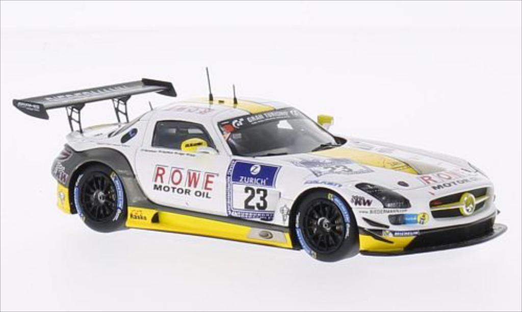 Mercedes SLS 1/43 Spark AMG GT3 No.23 Rowe Racing 24h Nurburgring 2014 /R.Goransson miniature