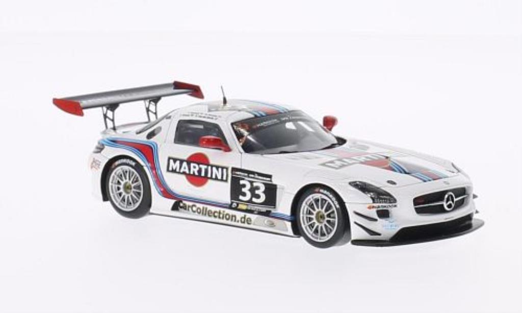 Mercedes SLS 1/43 Spark AMG GT3 No.33 Martini / Mishu Motors 12h Zandvoort /R.van miniature