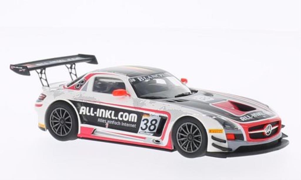 Mercedes SLS 1/43 Minichamps AMG GT3 No.38 All-Inkl.Com. Munnich Motorsport FIA GT1 Weltmeister 2012 /Winkelhock miniature