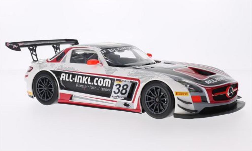 Mercedes SLS 1/18 Minichamps AMG GT3 No.38 Munnich Motorsport FIA GT1 World Championship 2012 /M.Winkelhock miniature