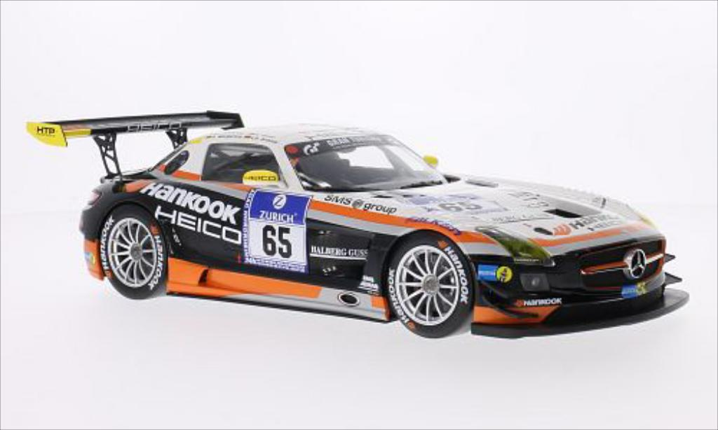 Mercedes SLS 1/18 Minichamps AMG GT3 No.65 Hankook-Team Heico Hankook 24h Nurburgring 2012 /A.Margaritis miniature