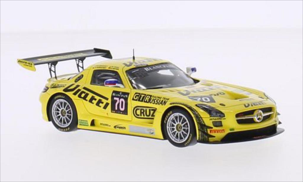 Mercedes SLS 1/43 Spark AMG GT3 No.70 GTRussian Racing Team 24h Spa 2015 /M.Toril miniature