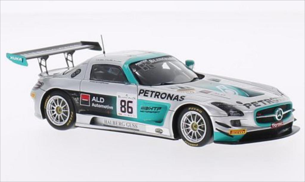 Mercedes SLS 1/43 Spark AMG GT3 No.86 HTP Motorsport Petronas 24h Spa 2014 /J.Jaafer miniature