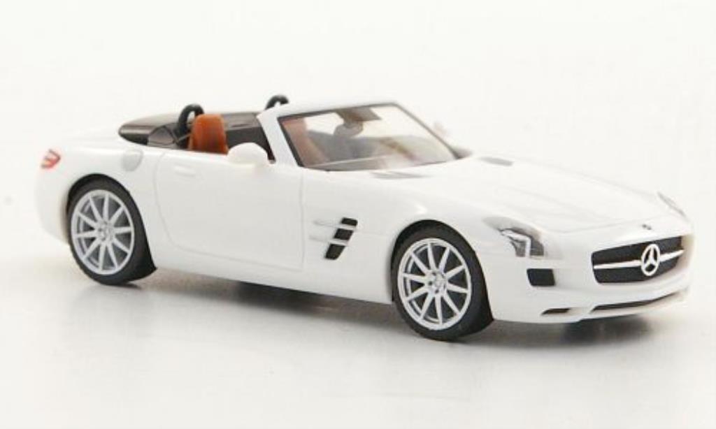 Mercedes SLS 1/87 Herpa AMG Roadster (R197) blanche 2011 miniature