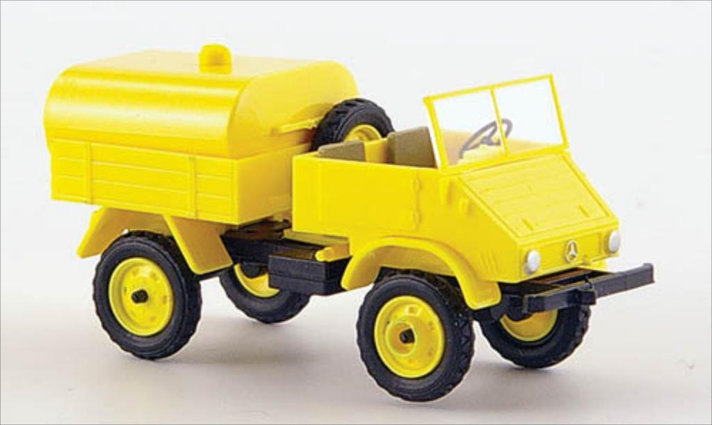 Mercedes Unimog 411 giallo Epoche. Mercedes Unimog 411 giallo modellini 1/87