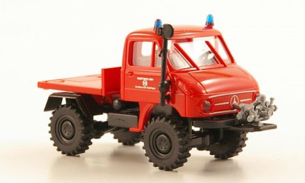 Mercedes Unimog 1/87 Brekina 411 Werksfeuerwehr Bosch