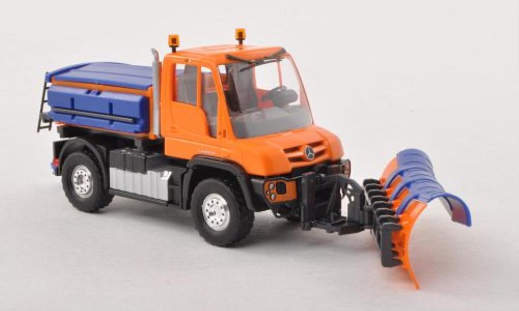 Mercedes Unimog 1/87 Busch U430 Winterdienst orange miniature