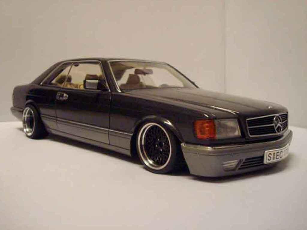 Mercedes 500 SEC 1/18 Autoart jantes 16 bbs tuning miniature