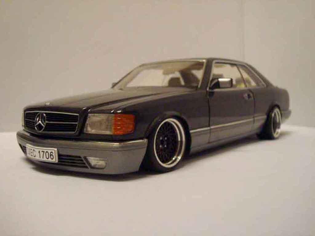 Mercedes 500 SEC 1/18 Autoart jantes 16 bbs