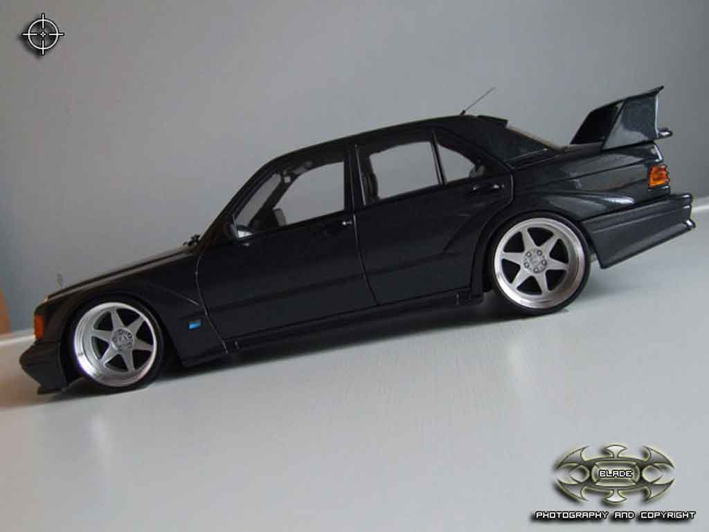 Mercedes 190 Evo 1/18 Autoart 2.5 16 evolution 2 jantes bords larges tuning miniature