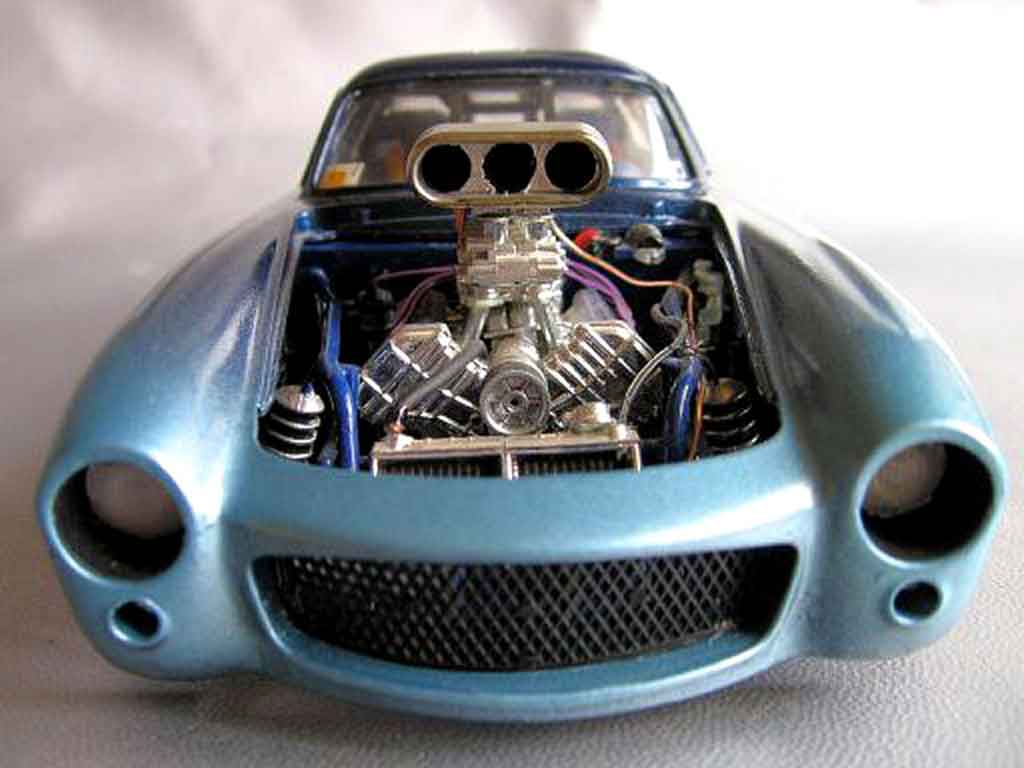 Mercedes 300 SL pro street 1954 tuning Burago. Mercedes 300 SL pro street 1954 modellini 1/18