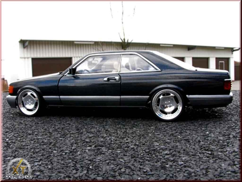 Mercedes 500 SEC 1/18 Autoart jantes 20 pouces