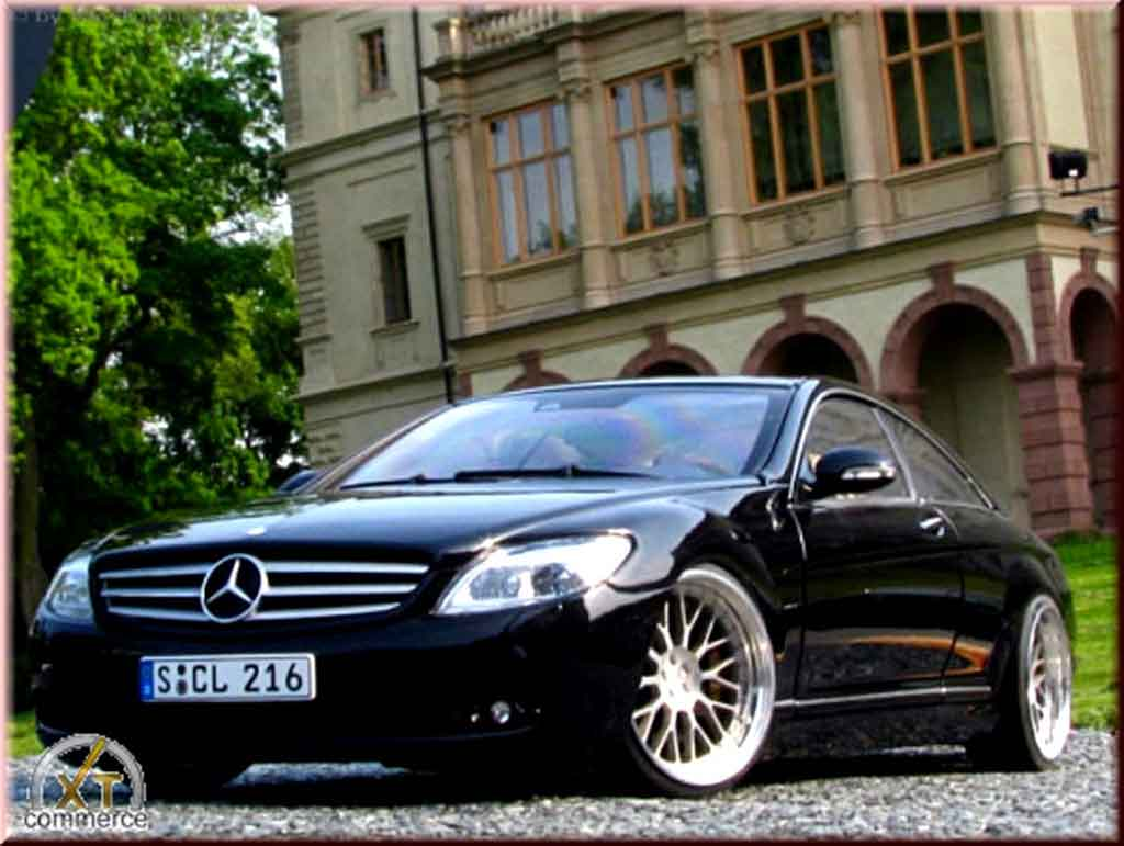 Mercedes Classe CL 1/18 Autoart black jantes bbs bords larges 19 pouces tuning diecast