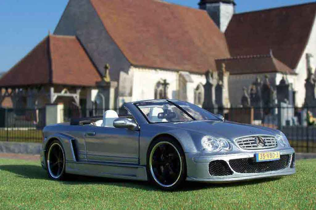 Mercedes Classe CL AMG DTM cabriolet 1/18 Maisto K AMG DTM cabriolet street grey tuning diecast model cars