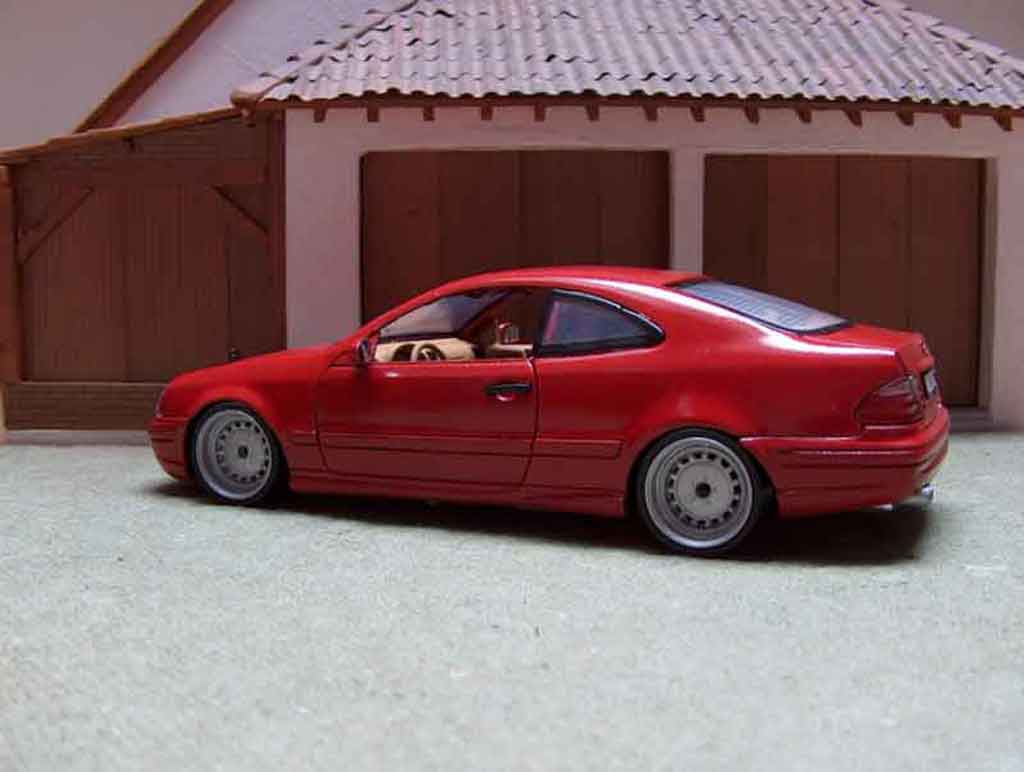 Mercedes Classe CLK AMG 1/18 Anson german look rosso candy