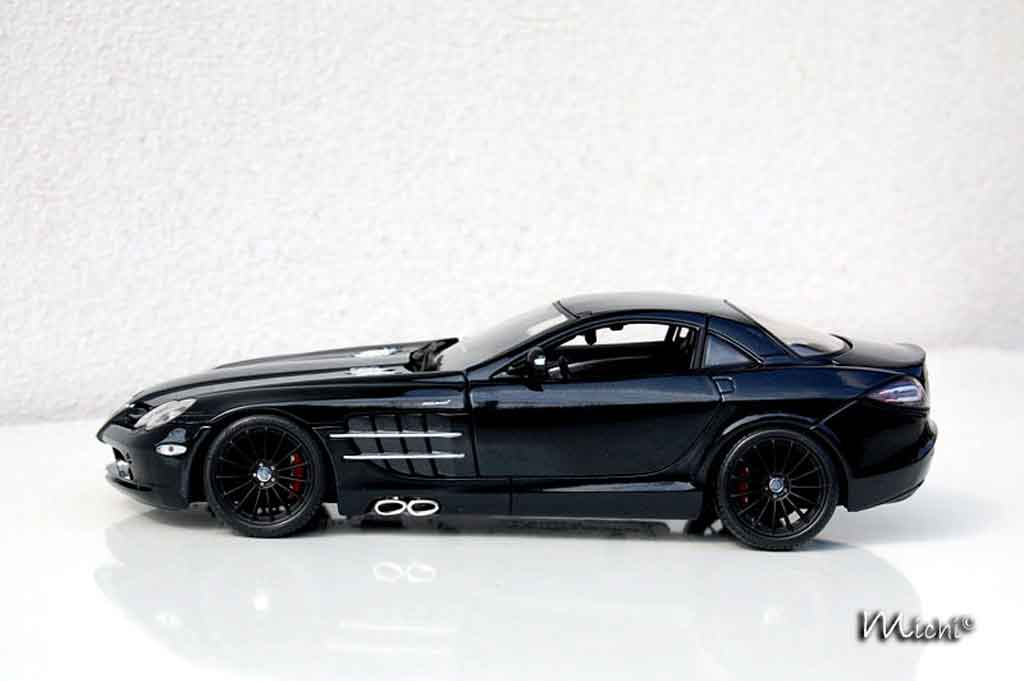 Mercedes SLR 1/18 Maisto mac laren black tuning miniature