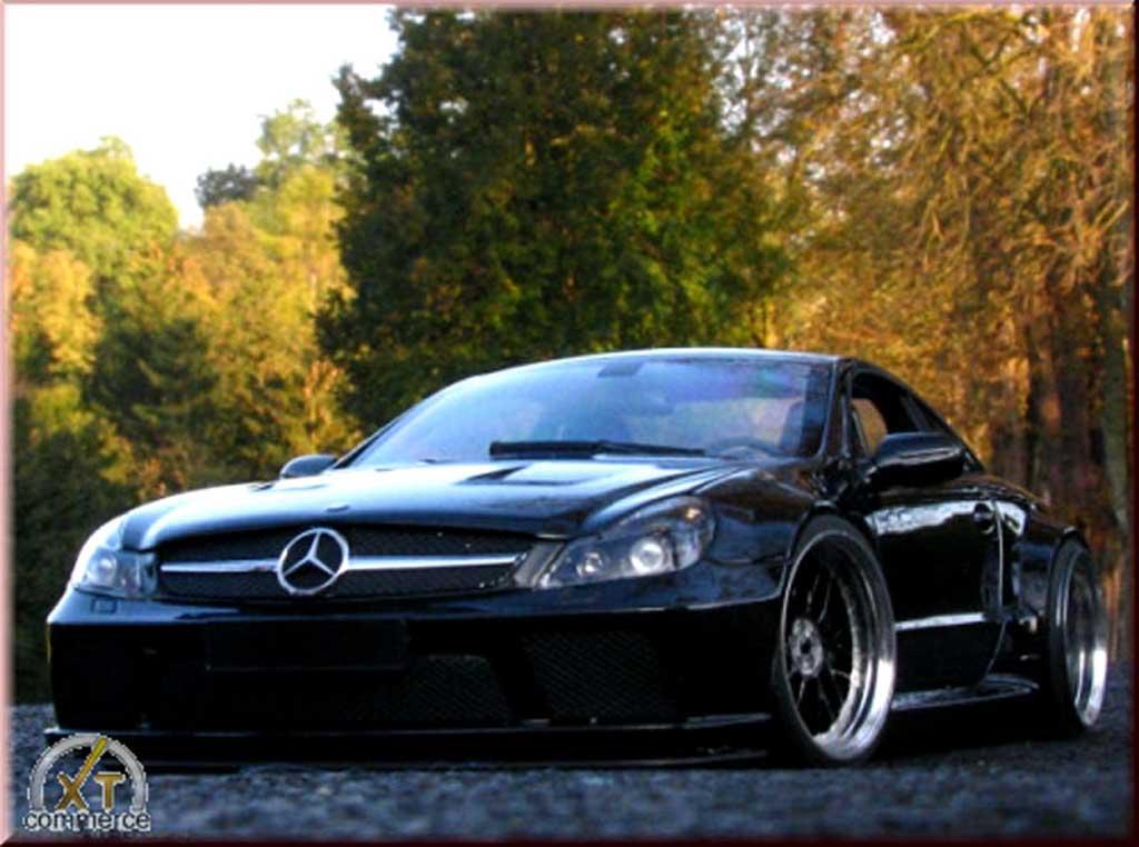 Mercedes Classe SL 65 1/18 Minichamps 65 amg noire jantes 19 et 20 pouces