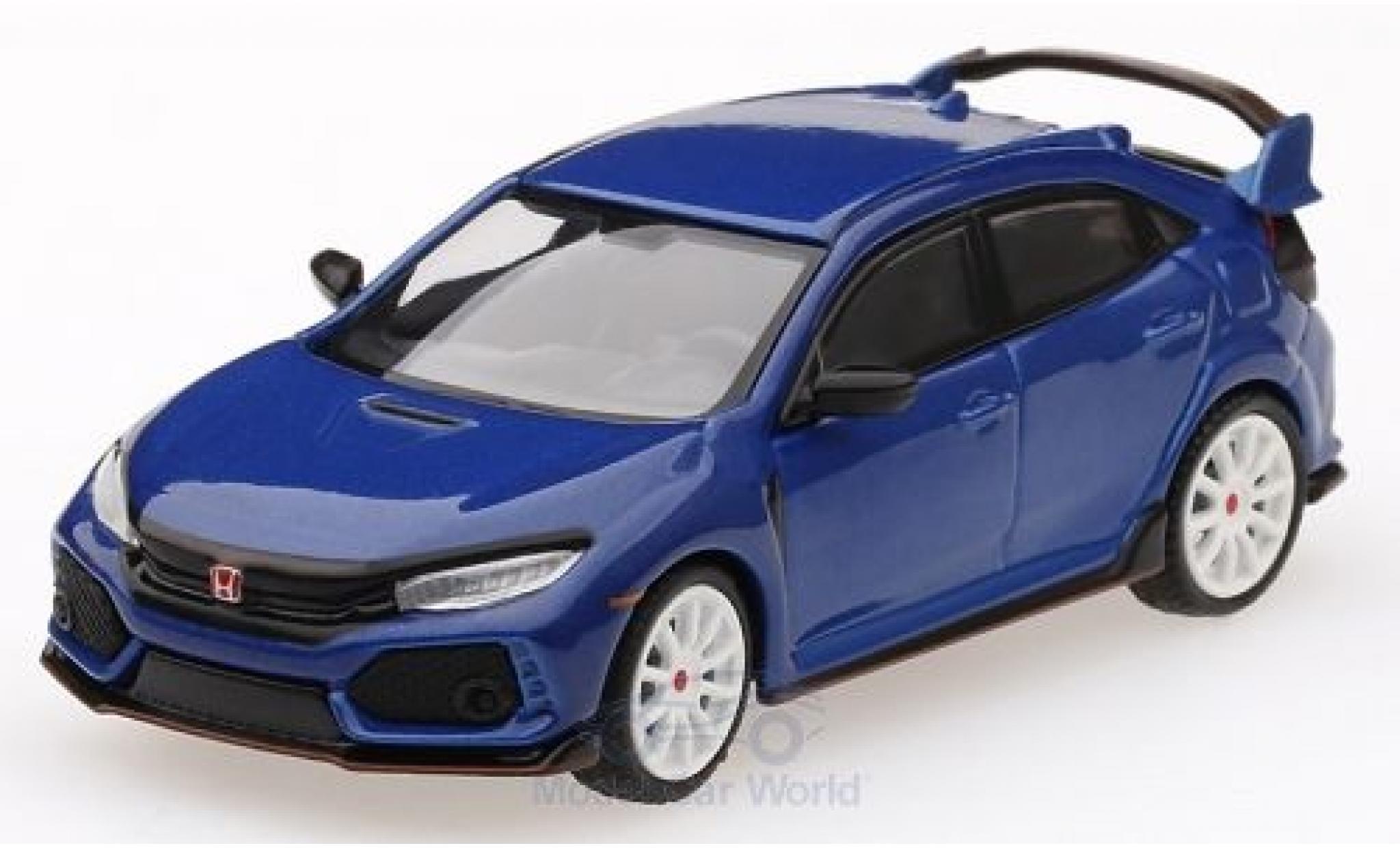 Honda Civic 1/64 Mini GT Type R (FK8) bleue RHD Modulo Kit