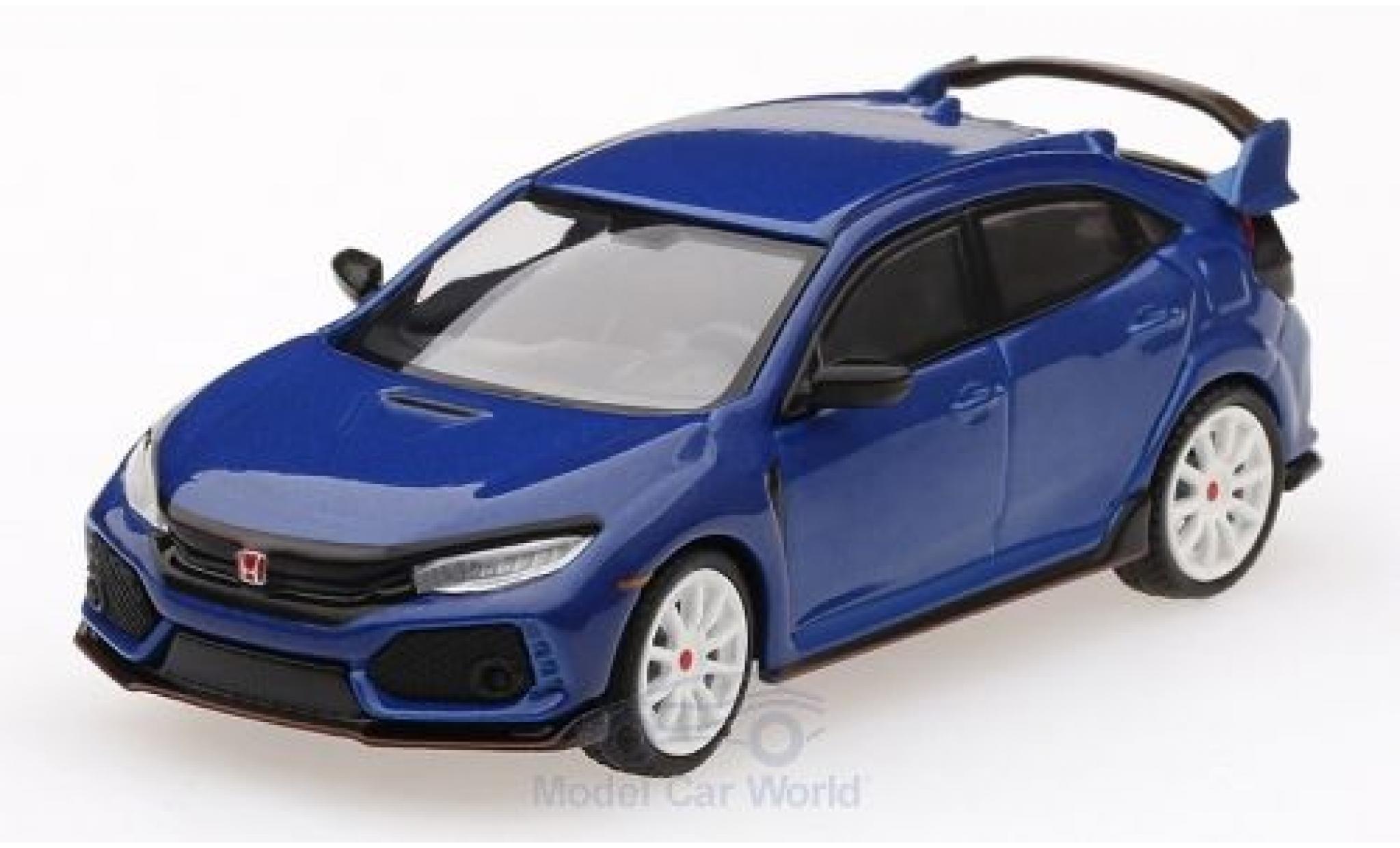 Honda Civic 1/64 Mini GT Type R (FK8) metallise bleue Modulo Kit