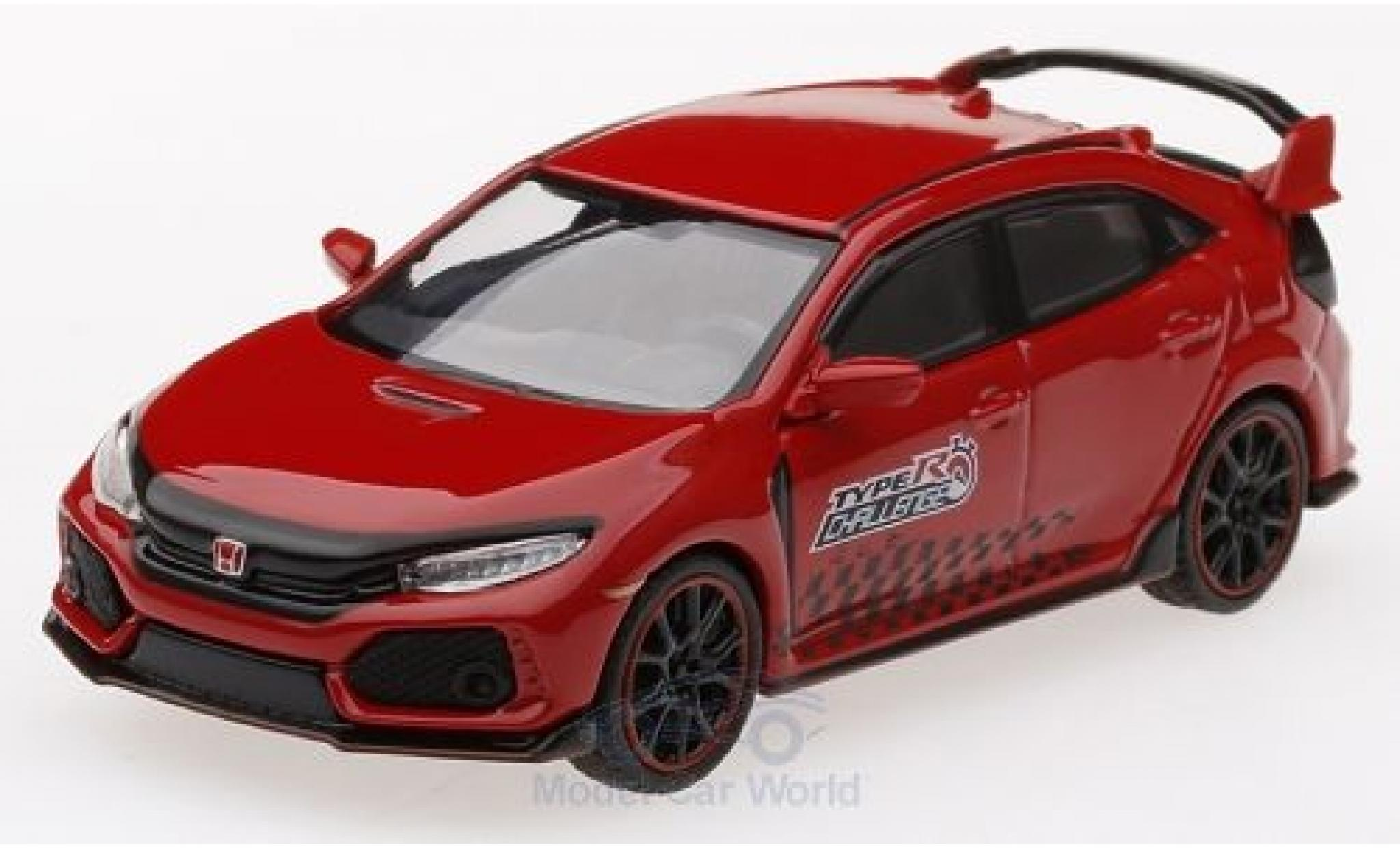 Honda Civic 1/64 Mini GT Type R (FK8) rouge 2018 Time Attack