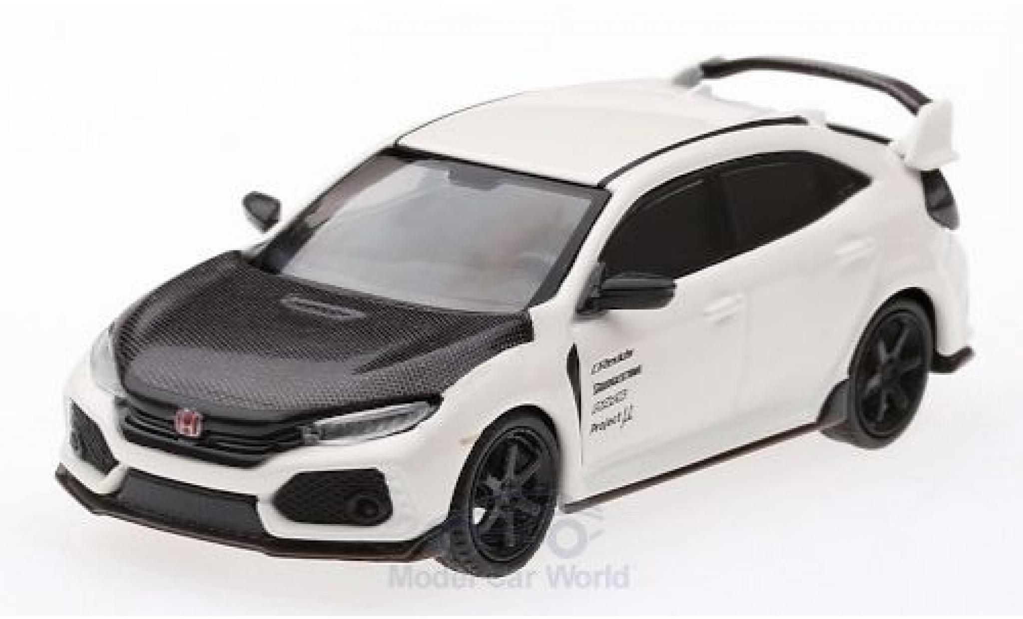 Honda Civic 1/64 Mini GT Type R (FK8) blanche/carbon RHD