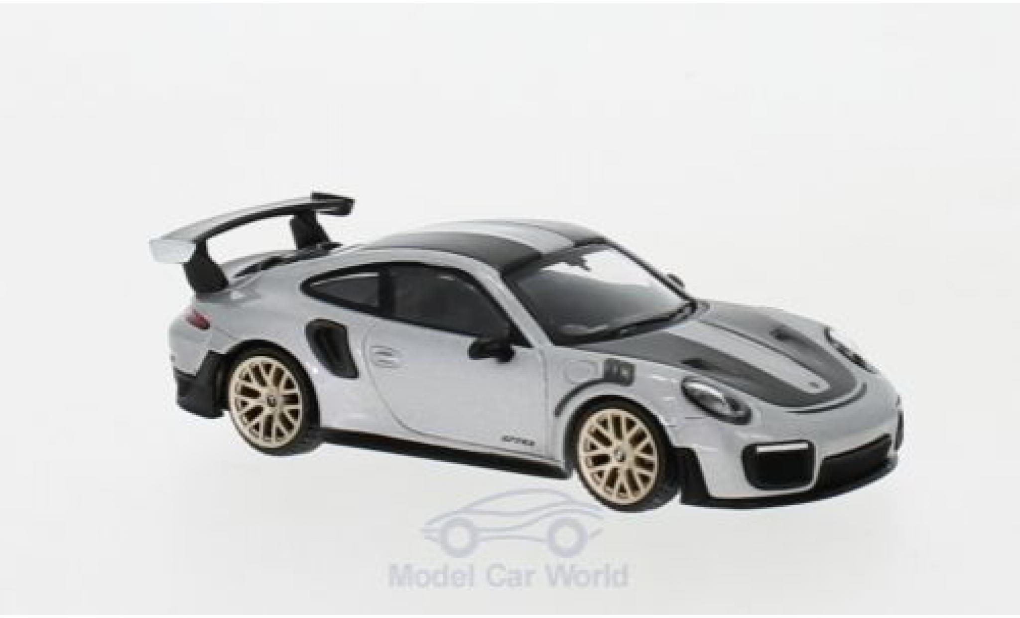 Porsche 991 GT2 RS 1/64 Mini GT 911 ( II) grey RHD Weissach Package