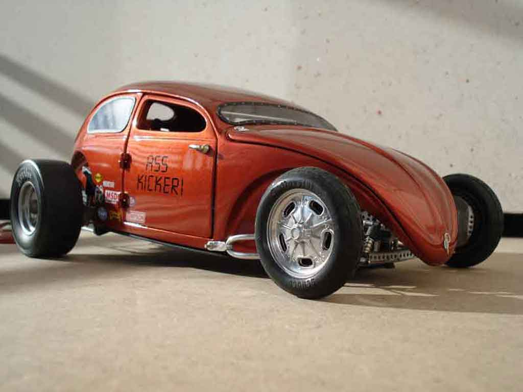 Volkswagen Kafer Hot Rod 1/18 Burago cox ass kicker 56 tuning coche miniatura