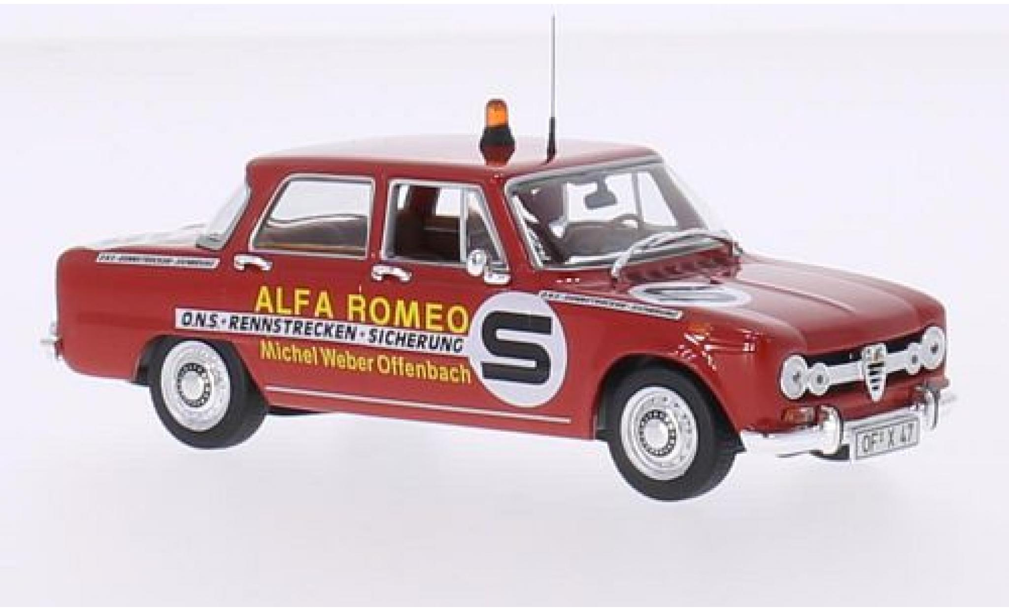 Alfa Romeo Giulia 1/43 Minichamps ONS Rennstrecken-Sicherung 1973