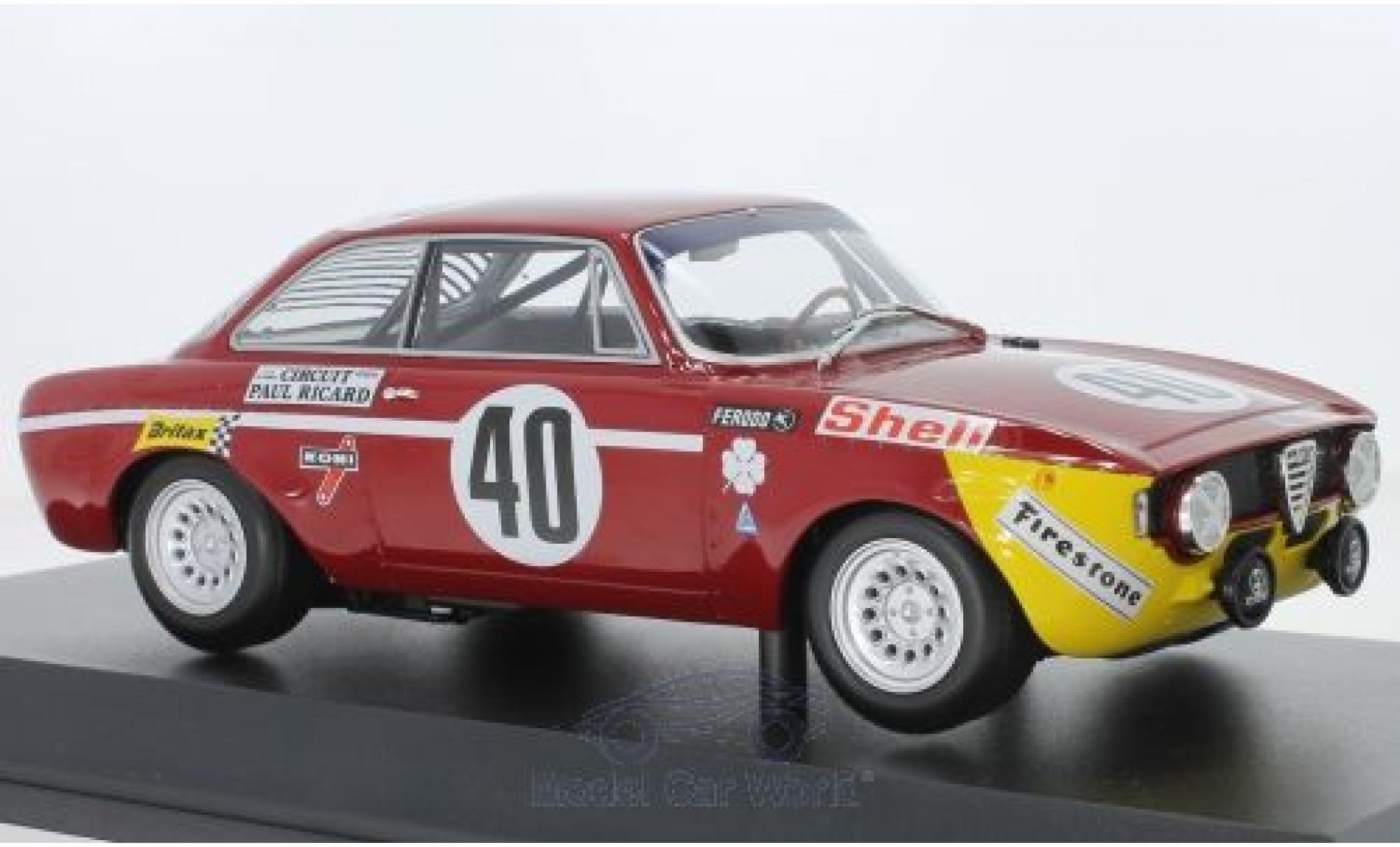 Alfa Romeo GT 1/18 Minichamps A 1300 Junior No.40 24h Paul Ricard 1971 G.Piccini/G.Chasseuil