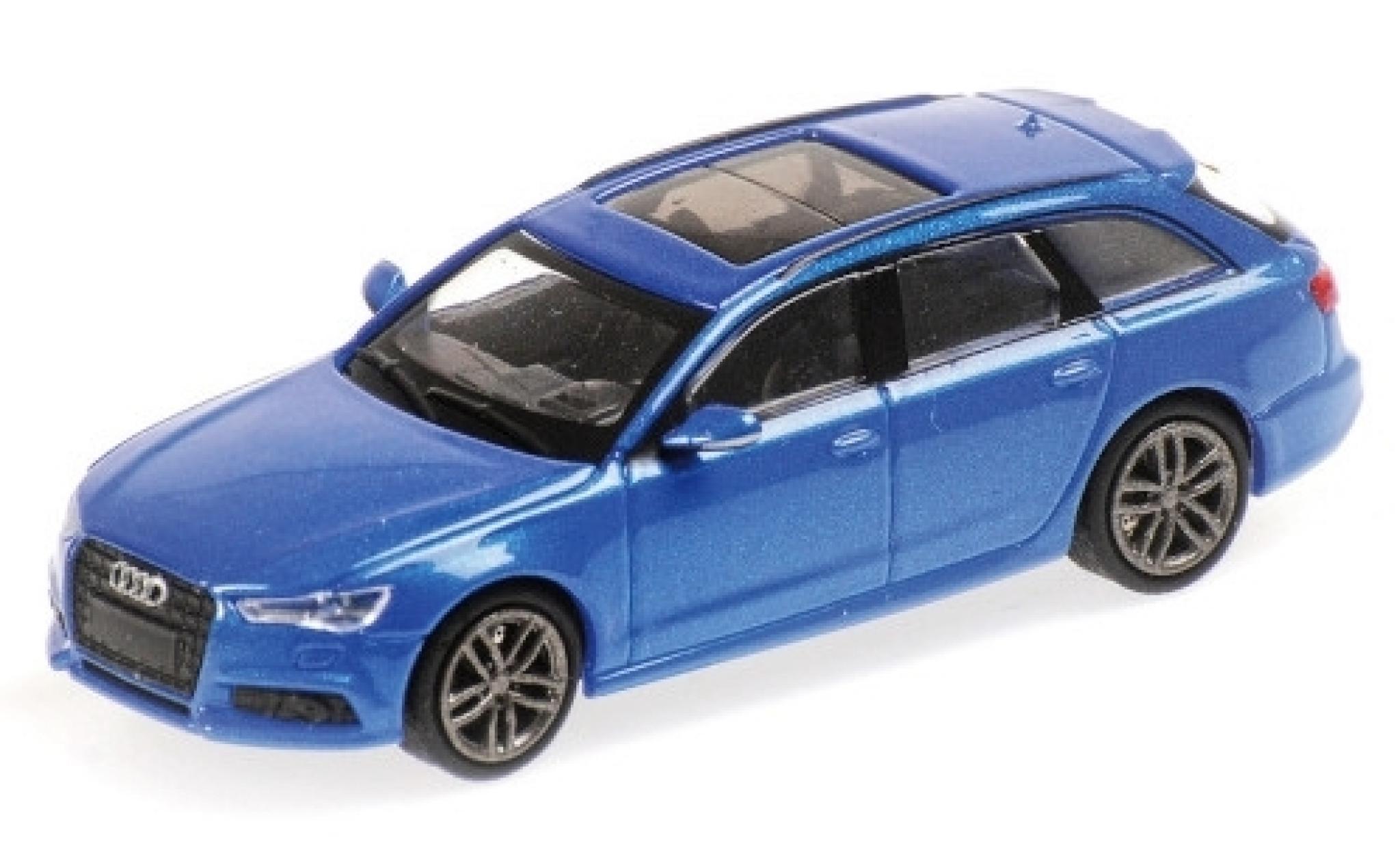 Audi A6 1/87 Minichamps Avant metallise bleue 2018
