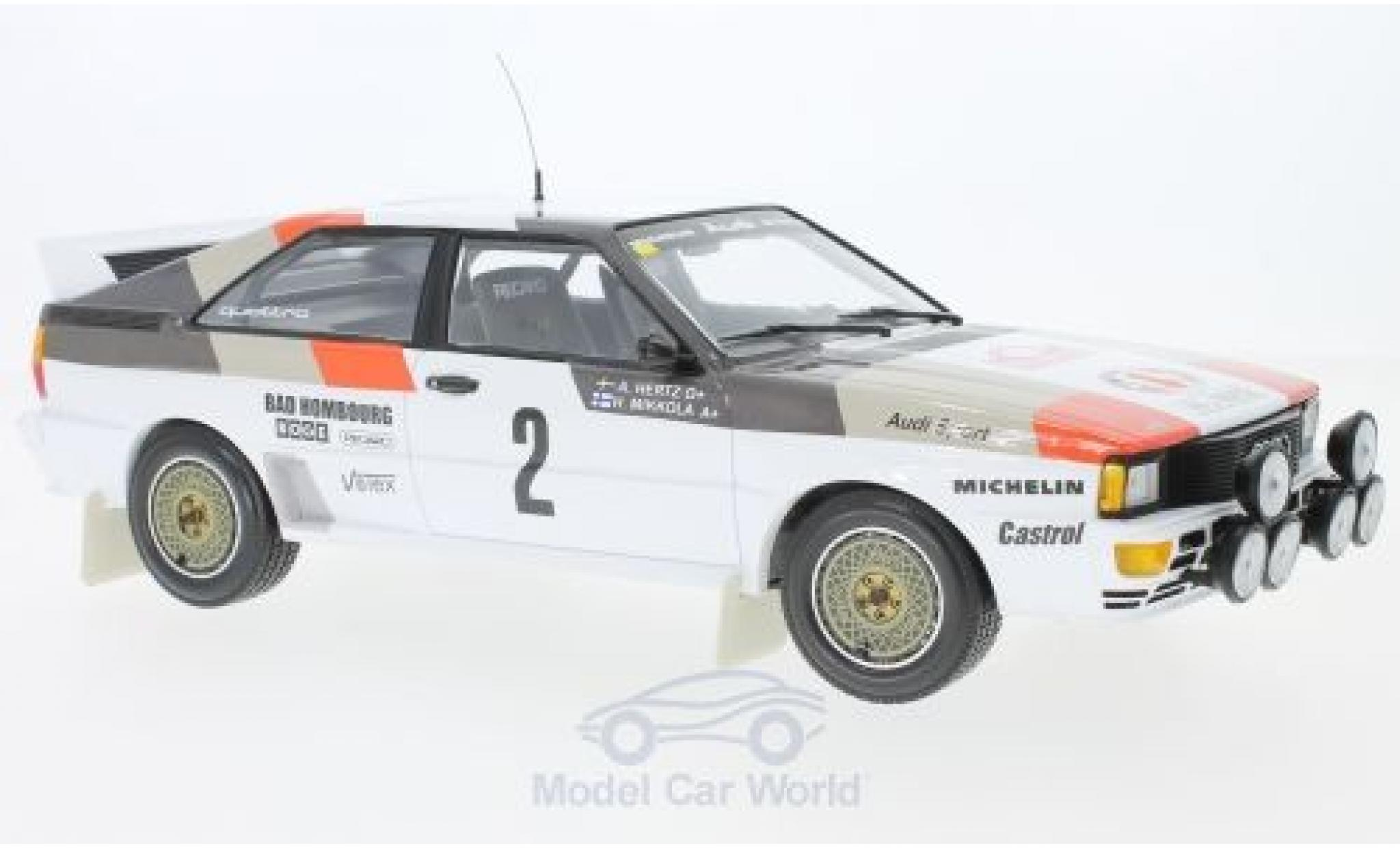 Audi Quattro 1/18 Minichamps quattro A1 No.2 Sport Rallye WM Rallye Monte Carlo 1983 H.Mikkola/A.Hertz