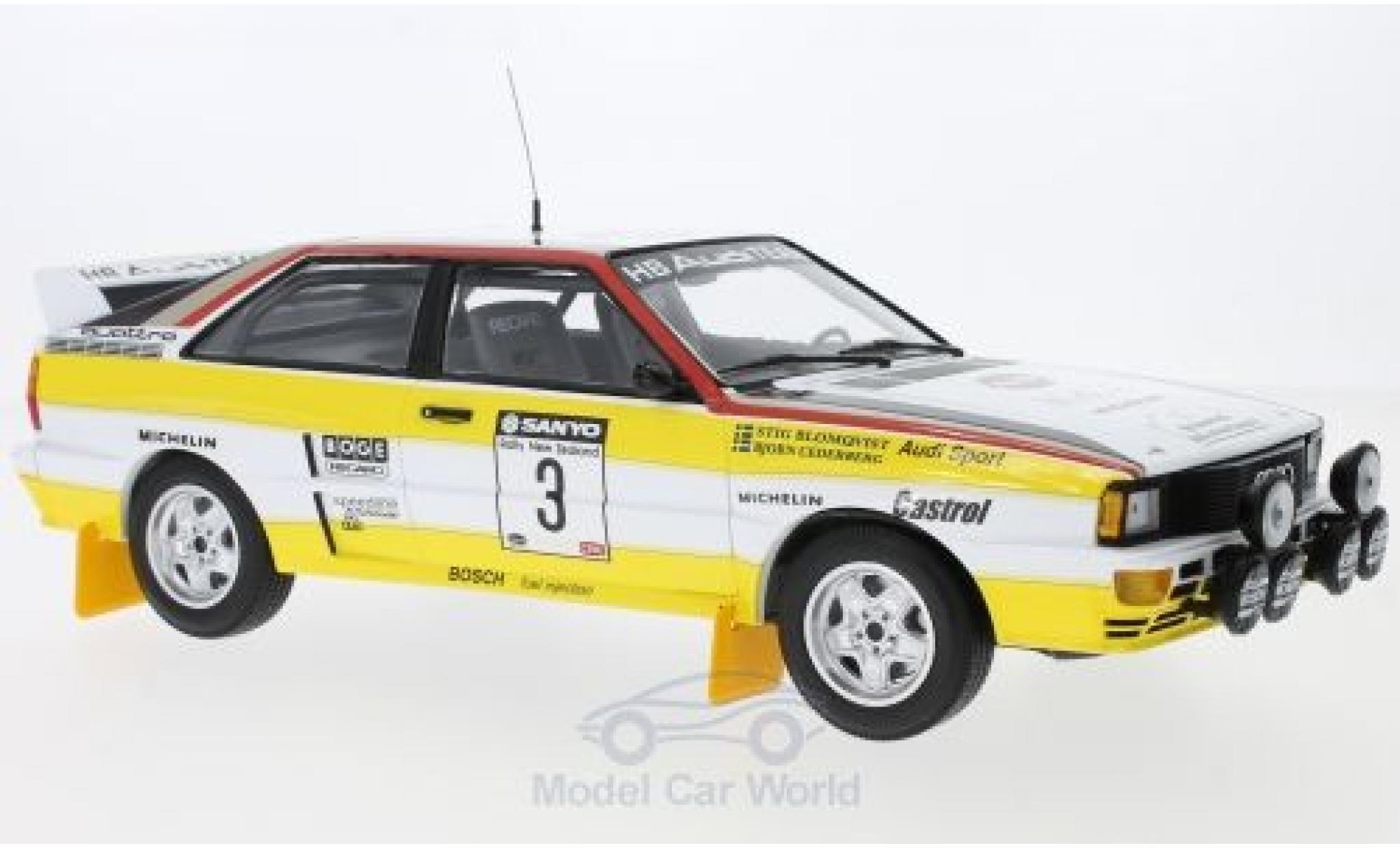 Audi Quattro 1/18 Minichamps quattro A2 No.3 Sport Rallye Neuseeland 1984 S.Blomqvist/B.Cederberg