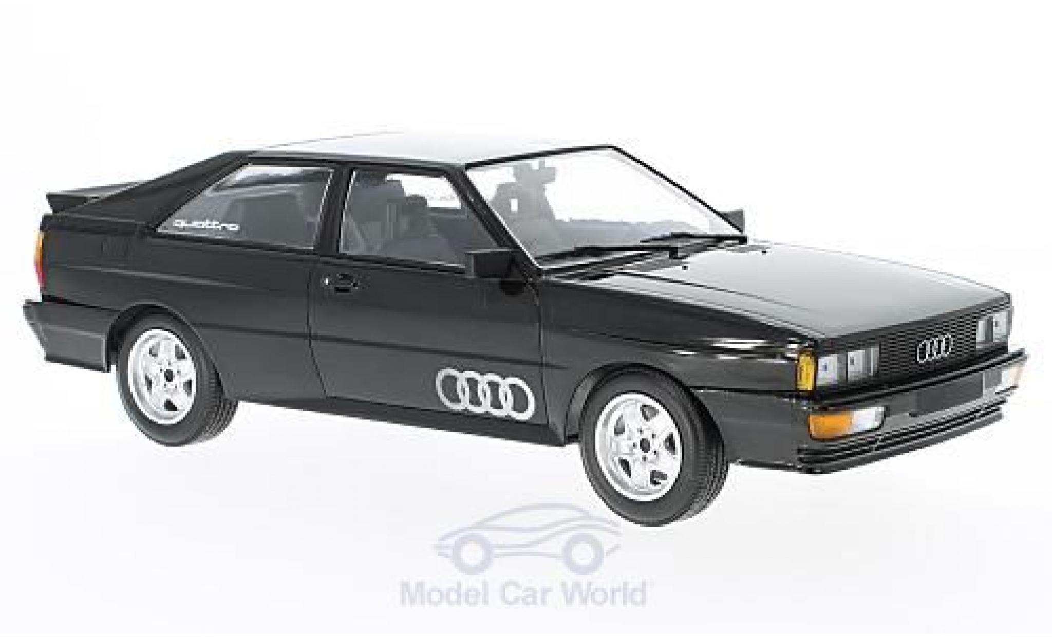 Audi Quattro 1/18 Minichamps quattro metallise noire 1980