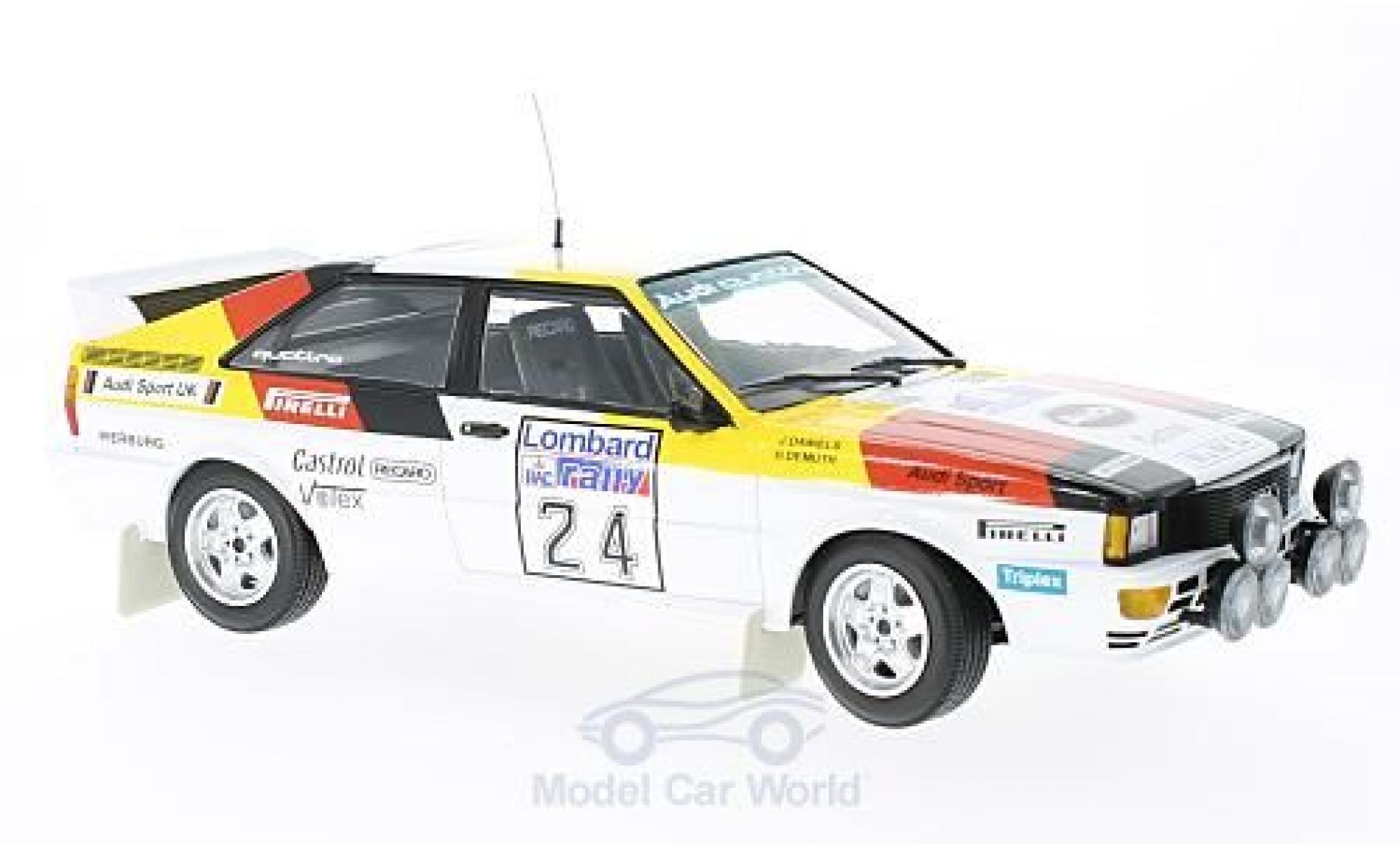 Audi Quattro 1/18 Minichamps quattro No.24 Sport Rallye WM RAC Rallye 1982 H.Demuth/J.Daniels